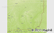 Physical 3D Map of Menaka