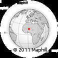 Outline Map of Menaka