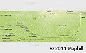 Physical Panoramic Map of Gao