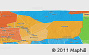 Political Shades Panoramic Map of Gao