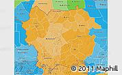 Political Shades 3D Map of Kayes