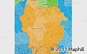 Political Shades Map of Kayes