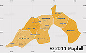 Political Shades Map of Nioro, cropped outside