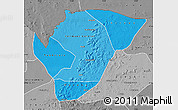 Political Shades Map of Yelimane, desaturated