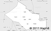 Silver Style Simple Map of n.a.