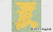 Savanna Style 3D Map of Koulikoro