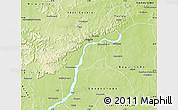 Physical Map of Kalban-Coro