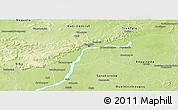 Physical Panoramic Map of Kalban-Coro