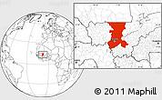 Blank Location Map of Koulikoro