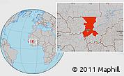 Gray Location Map of Koulikoro