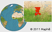 Satellite Location Map of Koulikoro