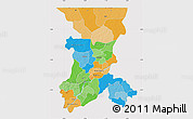 Political Map of Koulikoro, cropped outside