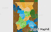 Political Map of Koulikoro, darken