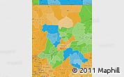 Political Map of Koulikoro, political shades outside