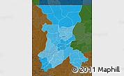 Political Shades Map of Koulikoro, darken