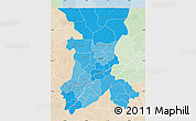 Political Shades Map of Koulikoro, lighten