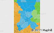 Political Shades Map of Koulikoro