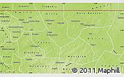 Physical Map of Nara