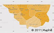 Political Shades Map of Nara, cropped outside