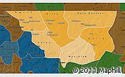Political Shades Map of Nara, darken