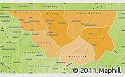 Political Shades Map of Nara, physical outside