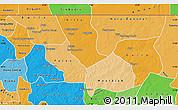 Political Shades Map of Nara
