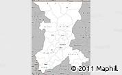 Gray Simple Map of Koulikoro