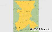 Savanna Style Simple Map of Koulikoro