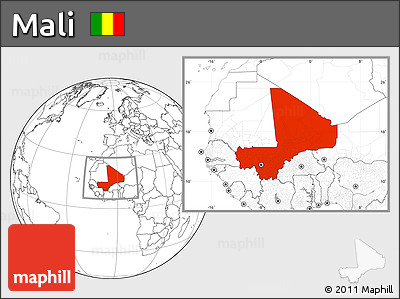 Blank Location Map of Mali