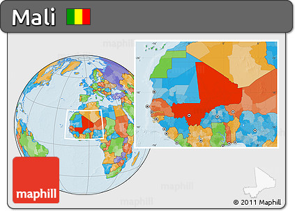 Political Location Map of Mali
