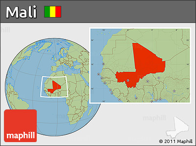 Savanna Style Location Map of Mali