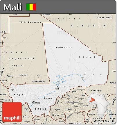 Classic Style Map of Mali