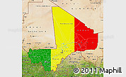 Flag Map of Mali, satellite outside