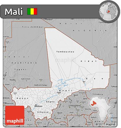 Gray Map of Mali