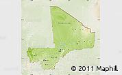Physical Map of Mali, lighten