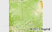 Physical Map of Mali