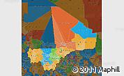 Political Map of Mali, darken