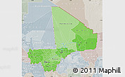 Political Shades Map of Mali, lighten, semi-desaturated