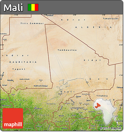 Galerry Mali Map Mali Satellite Image