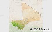 Satellite Map of Mali, lighten