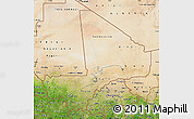 Satellite Map of Mali