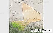 Satellite Map of Mali, semi-desaturated