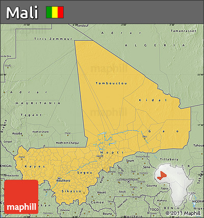 Savanna Style Map of Mali