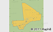 Savanna Style Map of Mali, single color outside