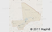 Shaded Relief Map of Mali, lighten