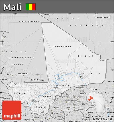 Silver Style Map of Mali