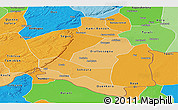 Political Shades Panoramic Map of Bankass
