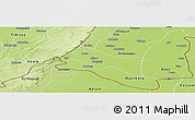 Physical Panoramic Map of Sokoura