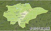 Physical Map of Mopti, darken
