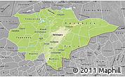 Physical Map of Mopti, desaturated